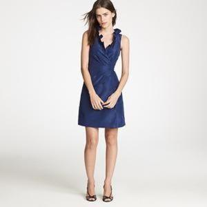 J. Crew Blakely Silk Taffeta Blue Dress